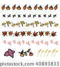 Japanese Country Illustration Line Set 40893833