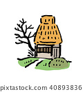 Japanese Country old private house illustration 40893836