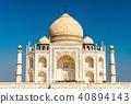 The Taj Mahal, the most famous monument of India. Agra - Uttar Pradesh 40894143