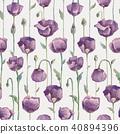花瓣 罂粟花 无缝的 40894396