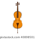Isolated cello sketch. Musical instrument 40898501