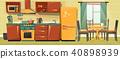 vector, family, kitchen 40898939