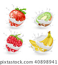 fruit, milk, raspberry 40898941