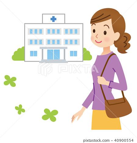 병원에 다니는 여성 40900554