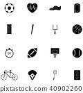 กีฬา,ไอคอน,เวกเตอร์ 40902260