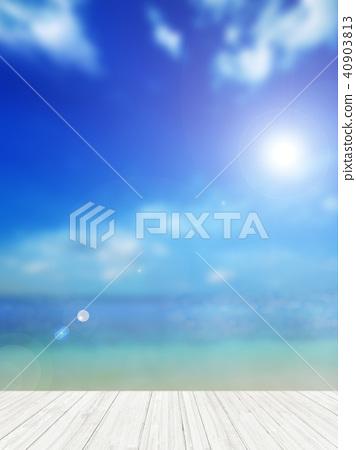 Background - Tropical - sea - sky 40903813