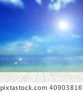 Background - Tropical - sea - sky 40903816