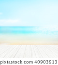 Background - Tropical - sea - sky 40903913
