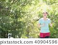 年輕的日本女士跑 40904596