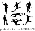 vector of silhouette  set of soccer player 40904620