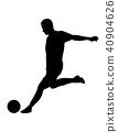 soccer, player, ball 40904626