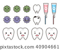 Tooth and caries part and tooth brush parts set 40904661