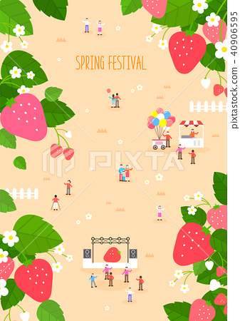 Strawberry Festival Minimal illustration 40906595