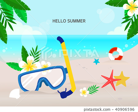 Summer holiday background 40906596