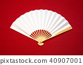 japanese fan, red, white 40907001