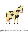vector cow flat 40907020