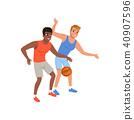 basketball sport vector 40907596