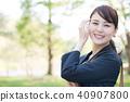 웃는 비즈니스 우먼 젊은 일본인 여성 40907800