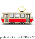 Vector Red Small Tram 40909577
