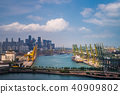 Singapore boat transportation port 40909802