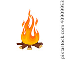 campfire, flame, burning 40909953