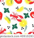 pattern shrimp vector 40910283