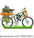 Vector Camping Bicycle 40910831