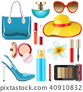 Vector Female Summer Accessories 40910832