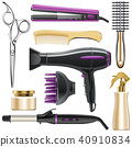 Vector Hair Styling Icons 40910834