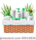 Vector Natural Cosmetics with Basket 40910836