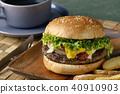 เบอร์เกอร์,อาหาร,ขนมปัง 40910903