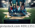 fans, field, football 40911351