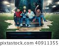 fans, field, football 40911355