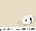 Background-Japanese paper-rice ball 40911409