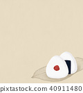 Background-Japanese paper-rice ball 40911480