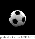 Soccer ball on a black background 40911613