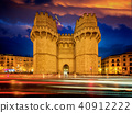Old city gate in Valencia 40912222