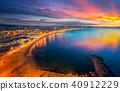 Barcelona beach on morning sunrise 40912229