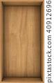 Wooden shelf concept background for design. 3d rendering. 40912696
