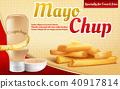 Vector 3d realistic ad poster - mayochup sauce 40917814