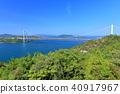 Shimotsui Seto Ohashi Bridge in fresh green 40917967
