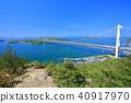 Shimotsui Seto Ohashi Bridge in fresh green 40917970