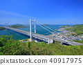 shimotsuiseto ohashi bridge, suspension bridge, bridge 40917975