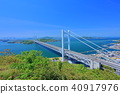 shimotsuiseto ohashi bridge, suspension bridge, bridge 40917976