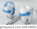 3d rendering tooth with dentist pick. Dental, medicine and health concept. Oral dental hygiene, Oral 40918692
