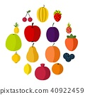 fruit, icon, set 40922459