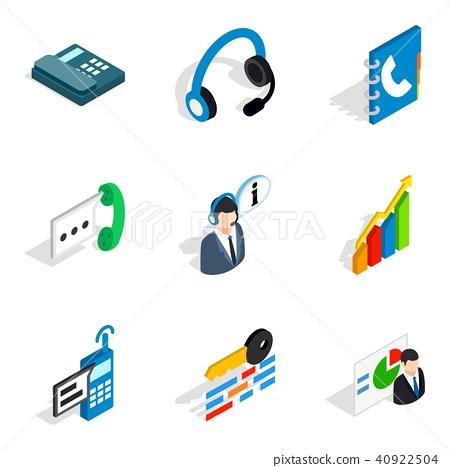 Server setup icons set, isometric style 40922504