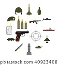 military, icons, set 40923408