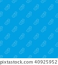 Clean pad pattern vector seamless blue 40925952