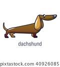 Dachshund icon, cartoon style 40926085